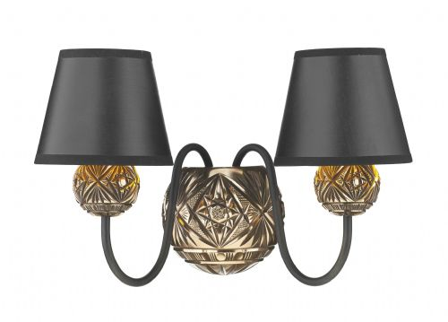 Novella 2 Light Wall Bracket Bronze NOV0963 (Class 2 Double Insulated) Shades sold separately